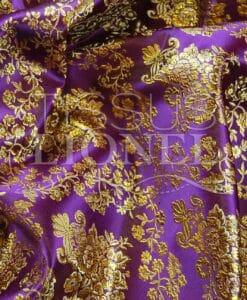 jacquard lurex violet et or