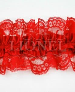 Jartelle red with red lace