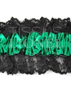 Jartelle green with black lace