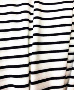 Tissu jersey de coton marinière