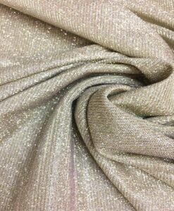Chameleon polyester lamé jersey beige changing silver