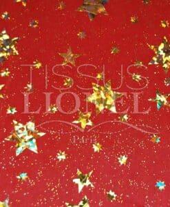 laser etoile rouge et or