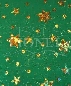 Лазерная звезда зеленый и золотой