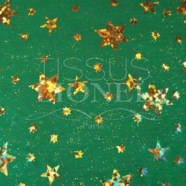 laser etoile vert et or