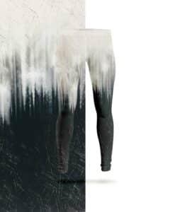leggings di Lycra degradati meraviglia nero