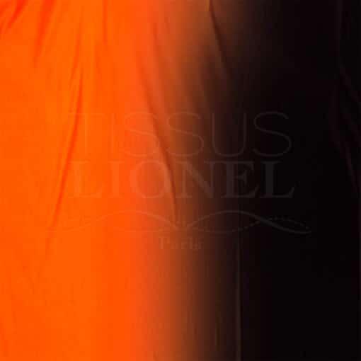 lycra dégradé orange et noir