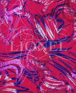 lycra printed glittery 032 LIP