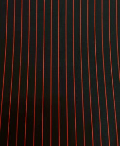 Lycra printed black red stripe