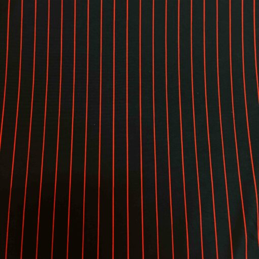 Lycra imprimé noir rayure rouge