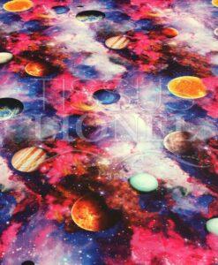Lycra gedruckt Planeten