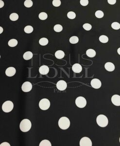 Lycra printed white dots on a black background