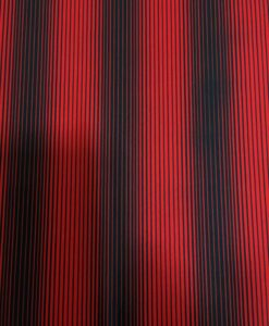Lycra printed red black pinstripe