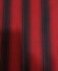 Lycra printed red black pinstripe