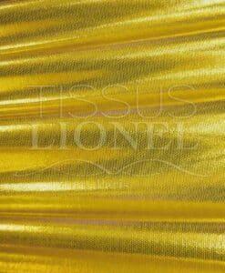 lycra pailleté fond jaune pailleté or