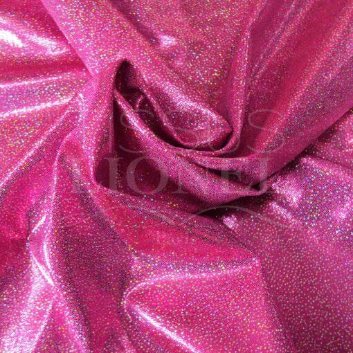 lycra pailleté hologramme série 2 fond rose fluo pailleté argent hologramme