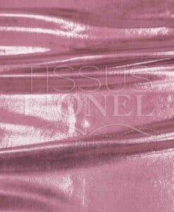 lycra pailleté multipoint fond rose pale pailleté rose