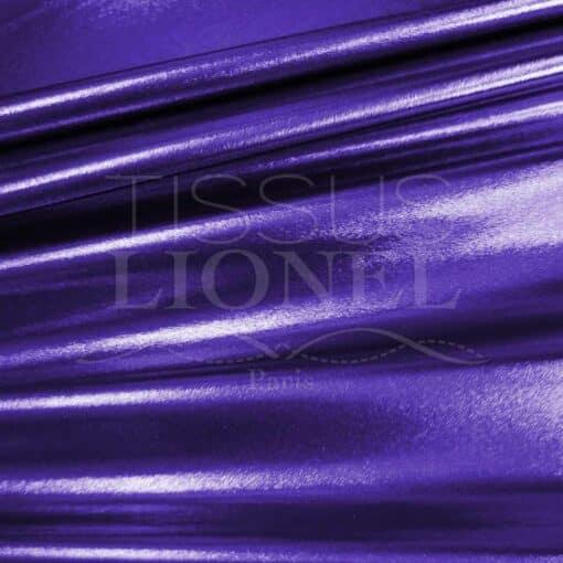 lycra pailleté multipoint fond violet pailleté violet