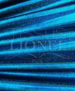 lycra pailleté multipoint série 1 fond marine pailleté turquoise hologramme