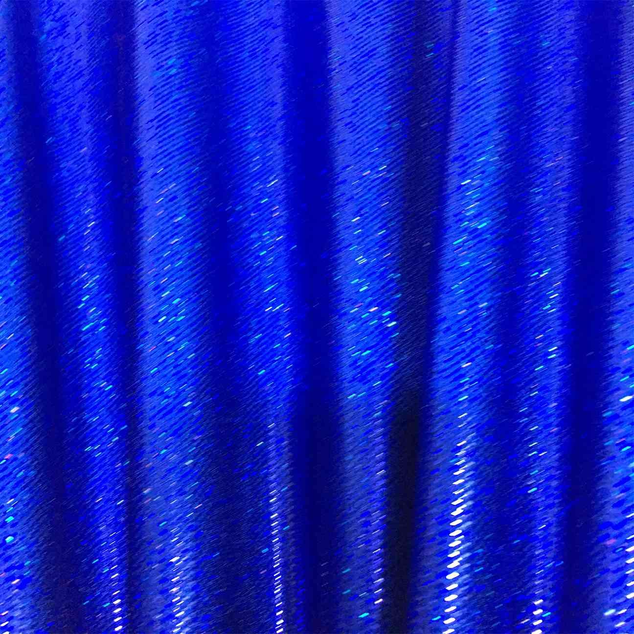 Lycra Scintillante Sfondo Blu Blu Ologramma Scintillio Lionel Tessuti
