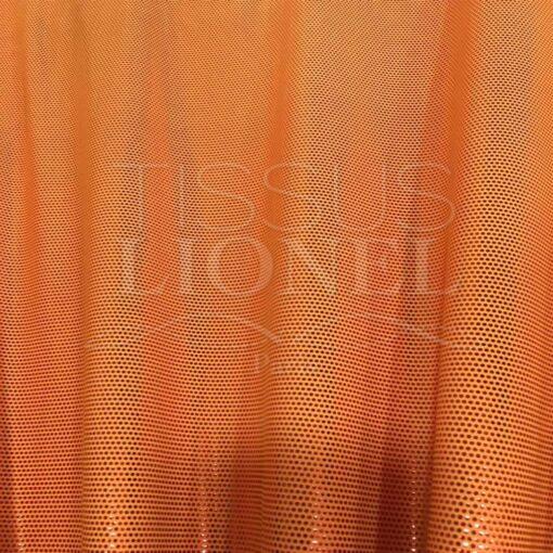 Lycra pailleté fond orange pailleté fuschia