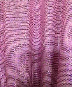 Lycra sequined glittery fuchsia pale pink background hologram
