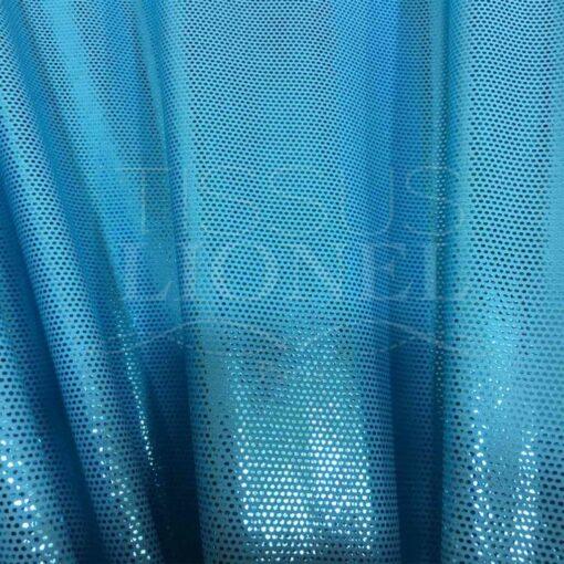Lycra pailleté fond turquoise clair pailleté turquoise