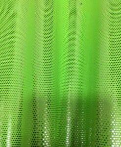 Lycra pailleté fond vert fluo pailleté argent