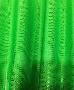 Lycra pailleté fond vert fluo pailleté vert vif