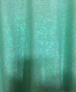 Lycra glitter hologram pale green background green glitter