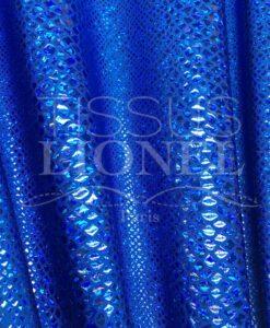 LYCRA SNAKE GLITTER BLAUW SCHITTERT BLUE HOLOGRAM