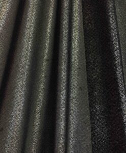 coated Lycra mesh sequined black background glittery silver