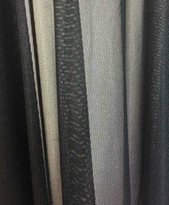 Lycra résille laqué pailleté fond noir pailleté noir