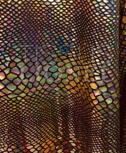 LYCRA SNAKE BLACK BACKGROUND GLITTER iridescent gold