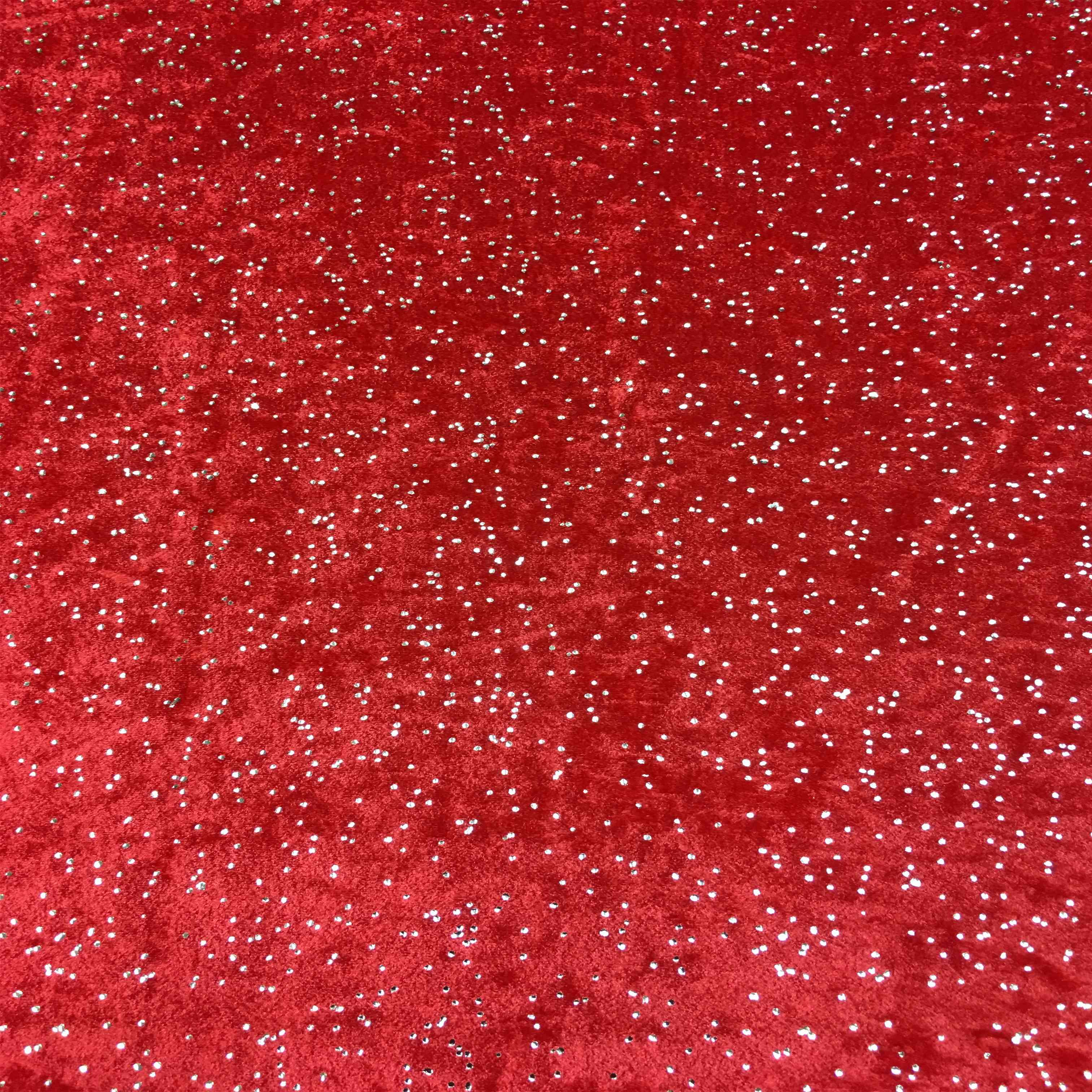 Velluto Lycra Sfondo Rosso Argento Glitterato Lionel Tessuti