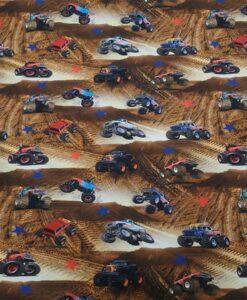 Tissu jersey de coton monster truck