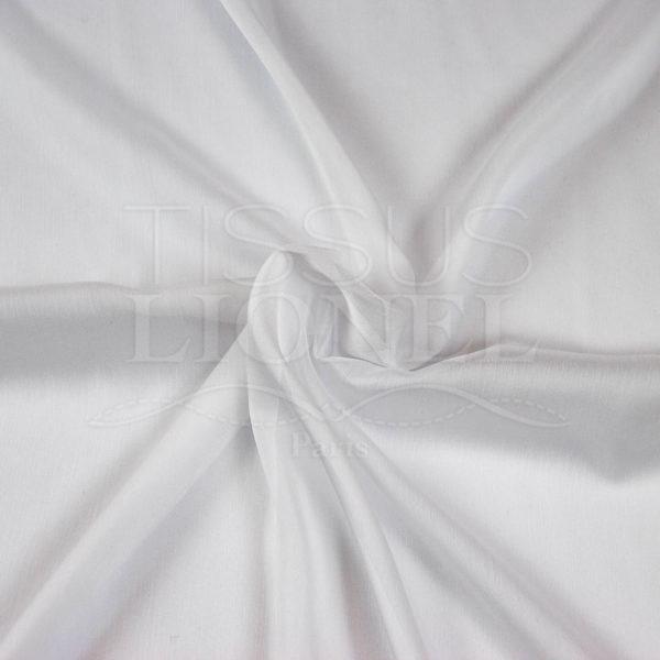 mousseline changeante deux files blanc