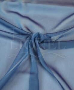 mousseline changeante deux files bleu et lavande