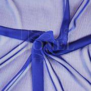 mousseline changeante deux files bleu royal et noir