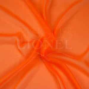 mousseline changeante deux files orange fluo