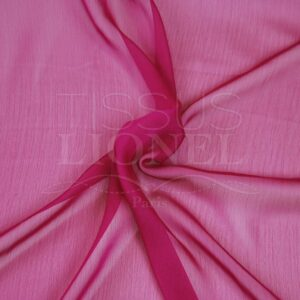 mousseline changeante deux files rose et fushia