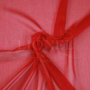 mousseline changeante deux files rouge