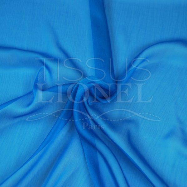 mousseline changeante deux files turquoise