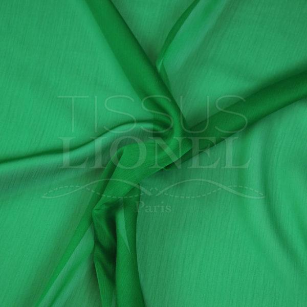 mousseline changeante deux files vert