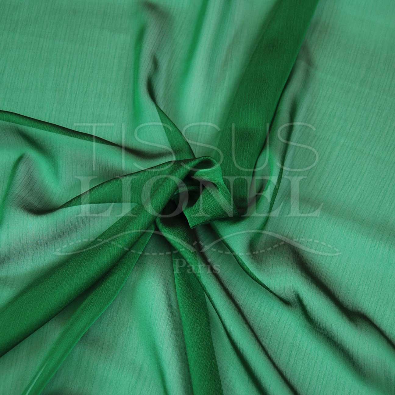 mousseline changeante deux files vert et noir tissus lionel. Black Bedroom Furniture Sets. Home Design Ideas