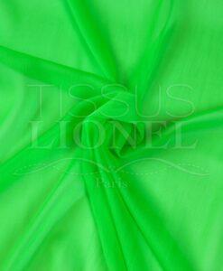 mousseline changeante deux files vert fluo