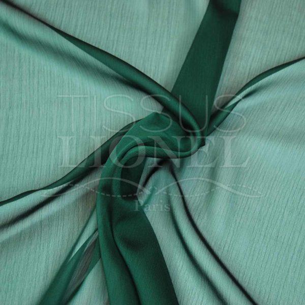 mousseline changeante deux files vert sapin