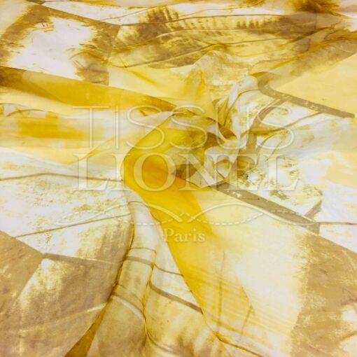 Mousseline de soie dégradé jaune