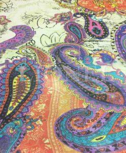 Paisley-Muster Chiffon Off-weißer Hintergrund