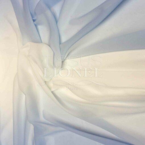 Mousseline dégradé blanc bleu ciel