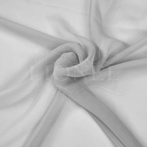 mousseline uni gris clair